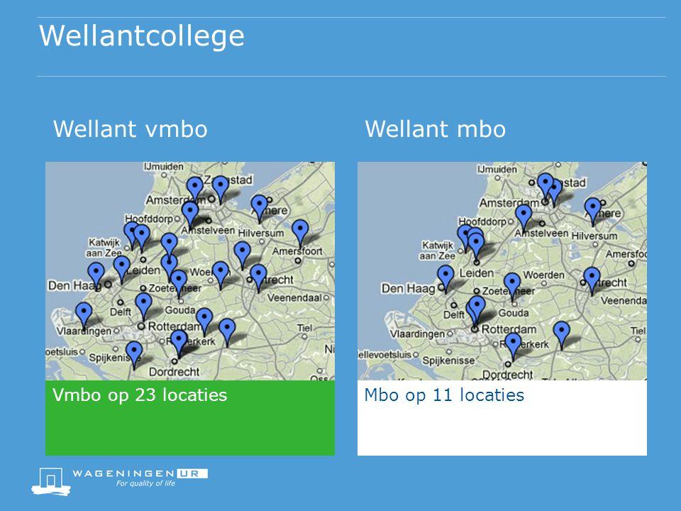 Wellantcollege Wellant vmboWellant mbo Vmbo op 23 locatiesMbo op 11 locaties