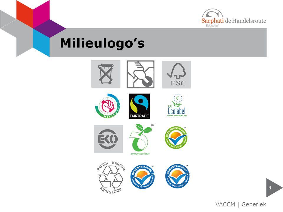 Milieulogo's 9 VACCM | Generiek