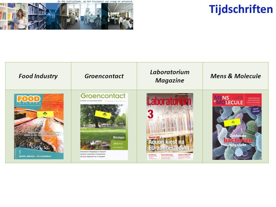 Tijdschriften Food IndustryGroencontact Laboratorium Magazine Mens & Molecule