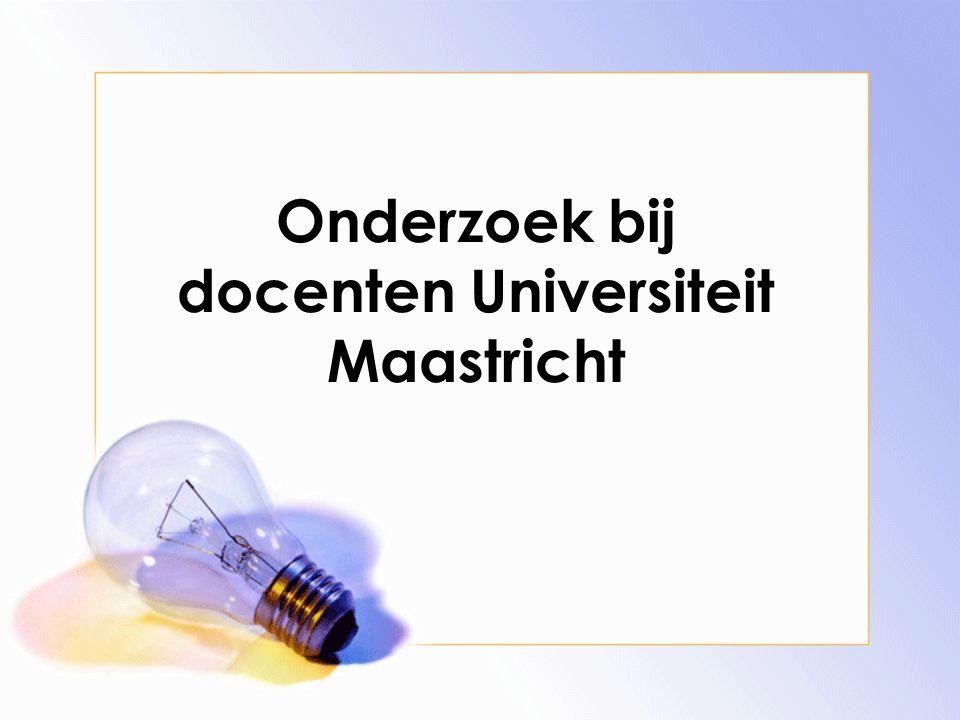 Onderzoek bij docenten Universiteit Maastricht