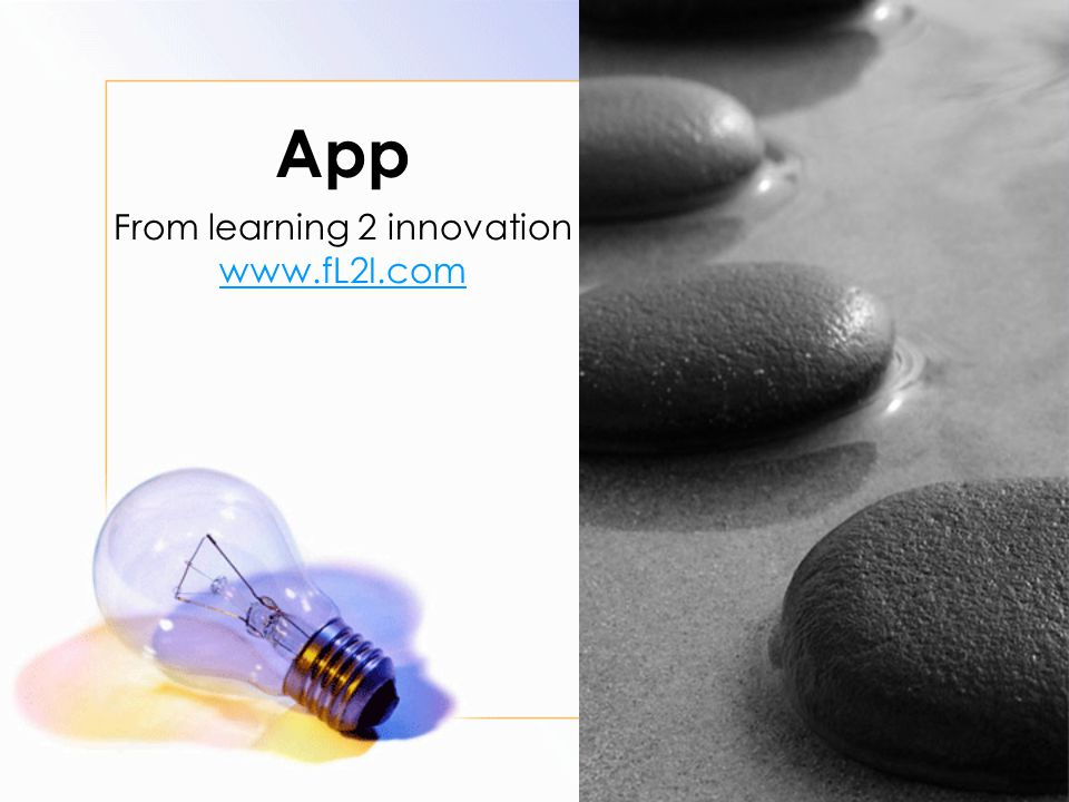 App From learning 2 innovation www.fL2I.com