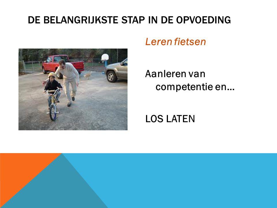 Leren fietsen Aanleren van competentie en… LOS LATEN DE BELANGRIJKSTE STAP IN DE OPVOEDING
