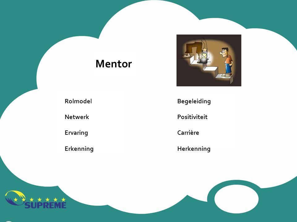 Mentor Rolmodel Netwerk Ervaring Erkenning Begeleiding Positiviteit Carrière Herkenning