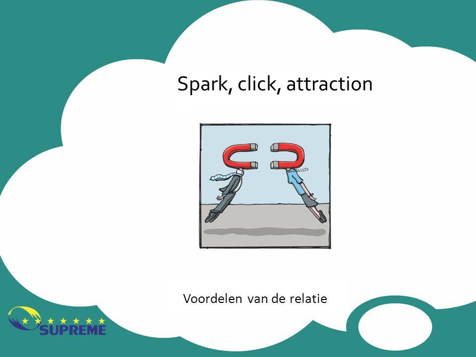 Spark, click, attraction Voordelen van de relatie