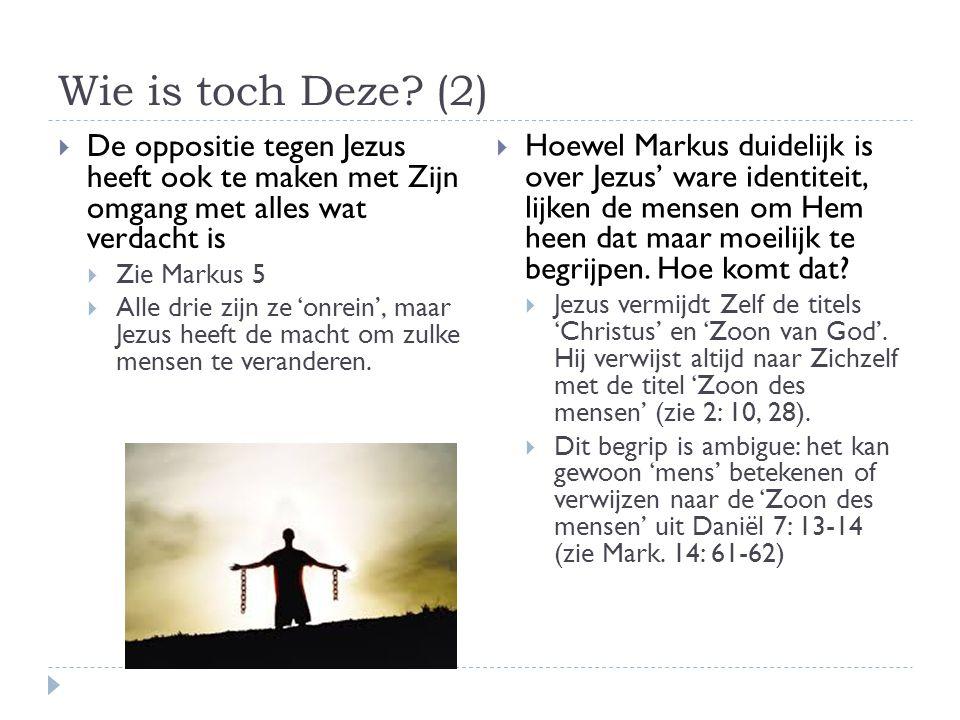 Wie is toch Deze.(3)  Jezus wil niet dat er ruchtbaarheid rond Zijn persoon ontstaat.