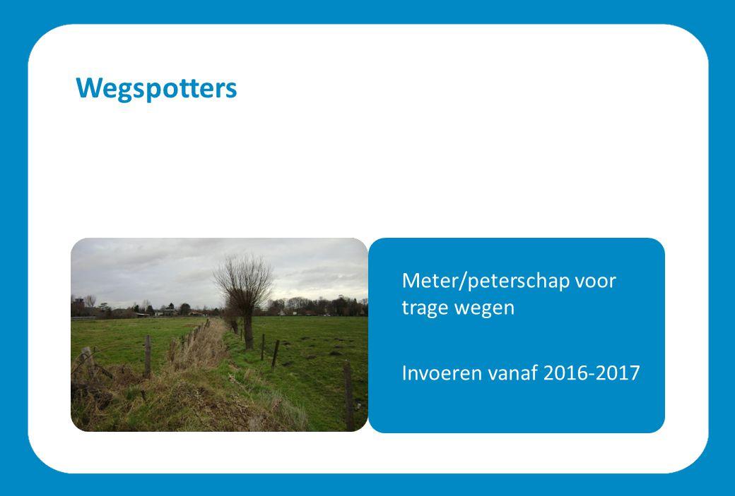 Wegspotters Meter/peterschap voor trage wegen Invoeren vanaf 2016-2017