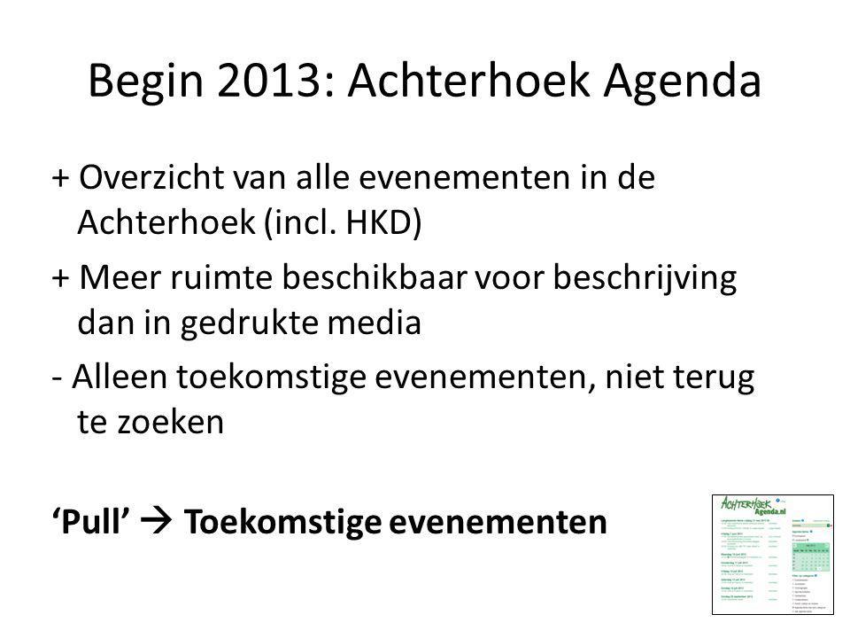Begin 2013: Achterhoek Agenda + Overzicht van alle evenementen in de Achterhoek (incl.