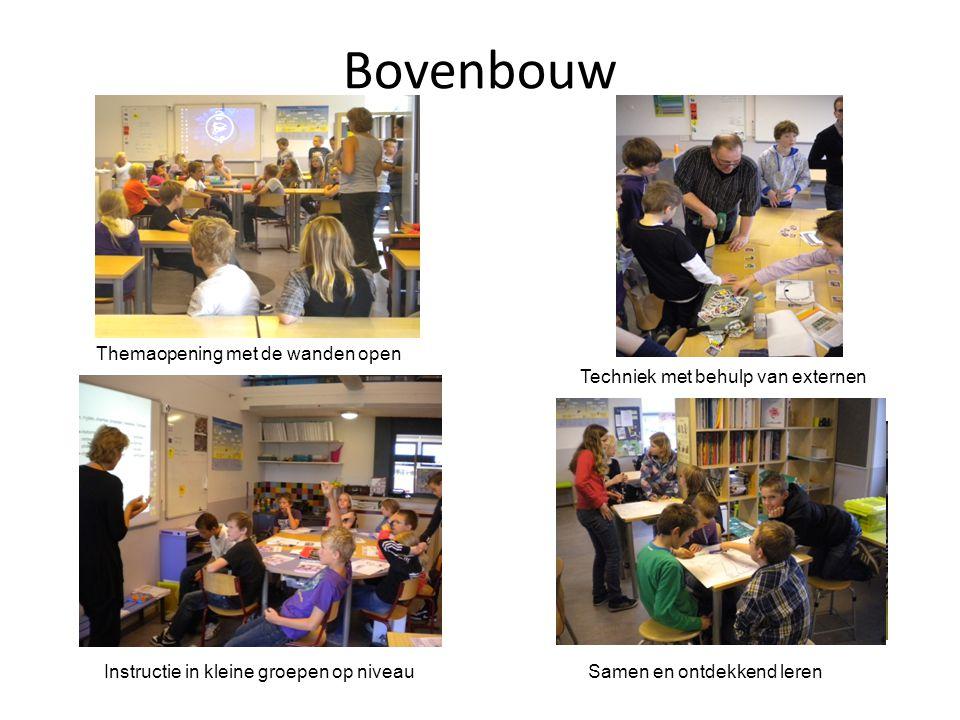 Bovenbouw Themaopening met de wanden open Techniek met behulp van externen Instructie in kleine groepen op niveauSamen en ontdekkend leren