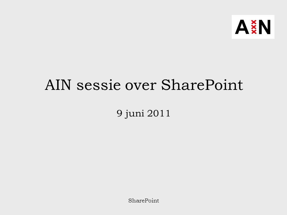 SharePoint Programma: 16.30Opening 16.35Sharepoint een zegen of een vloek.