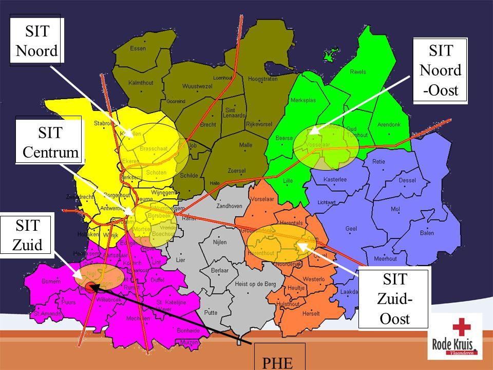 SIT Noord SIT Centrum SIT Zuid SIT Zuid- Oost SIT Noord -Oost PHE