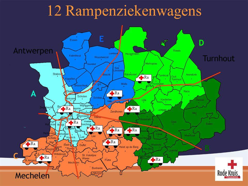 Antwerpen Mechelen Turnhout E D C B A 12 Rampenziekenwagens Ra