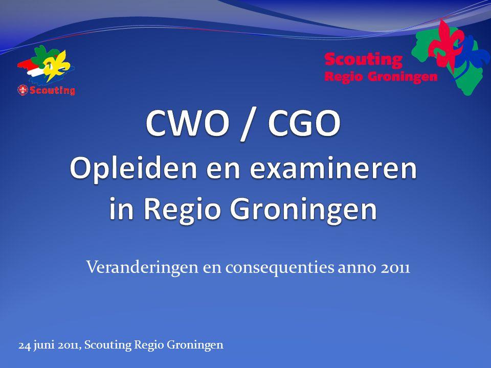 Veranderingen en consequenties anno 2011 24 juni 2011, Scouting Regio Groningen