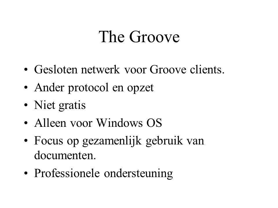 The Groove Gesloten netwerk voor Groove clients.