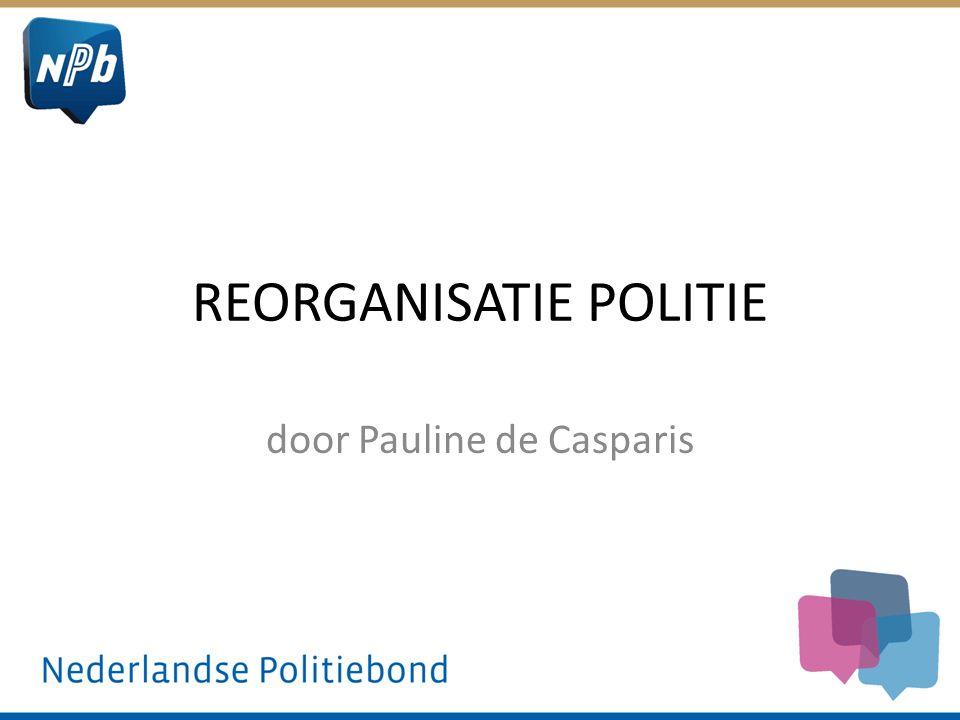 REORGANISATIE POLITIE door Pauline de Casparis