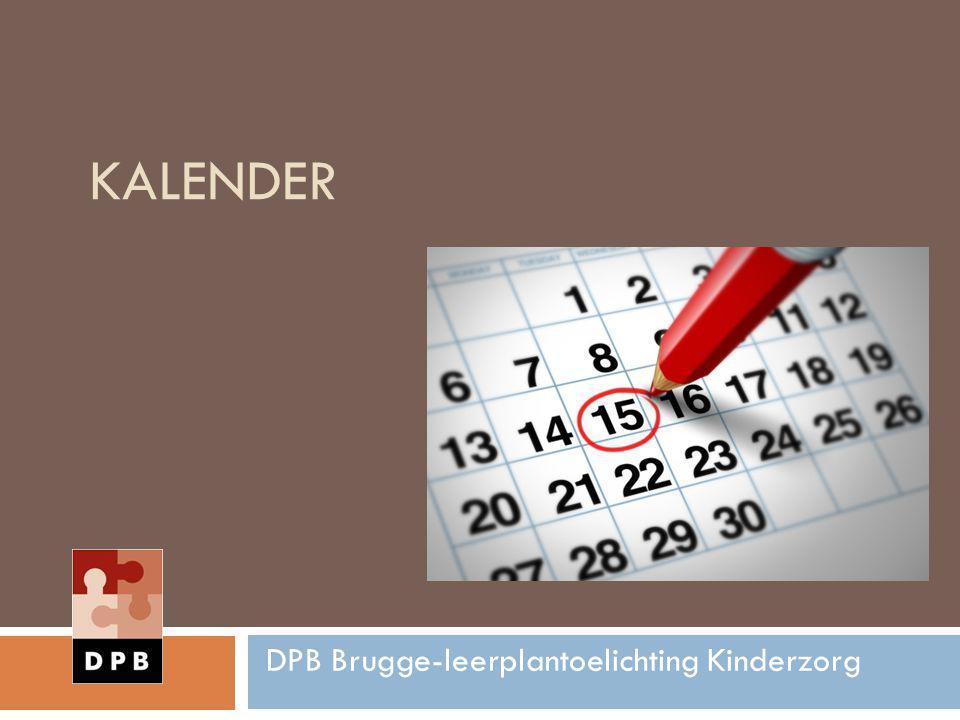 KALENDER DPB Brugge-leerplantoelichting Kinderzorg