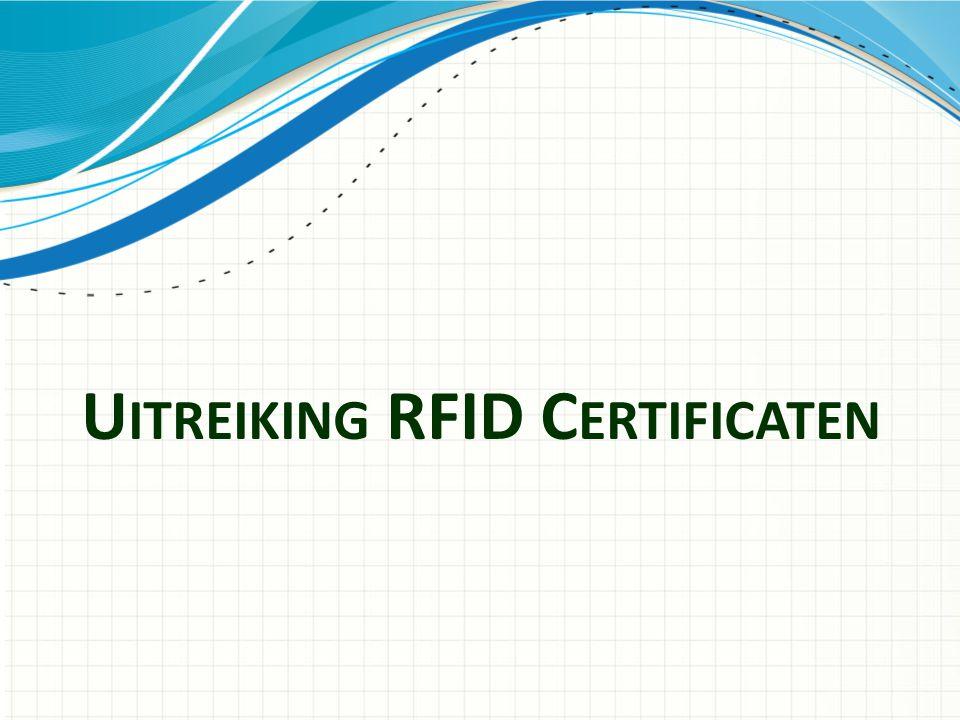 U ITREIKING RFID C ERTIFICATEN