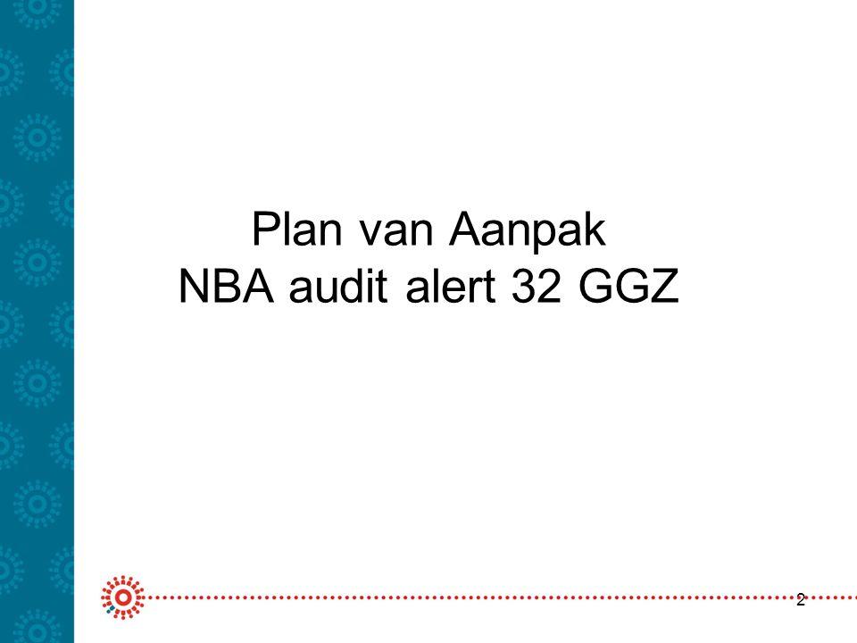Plan van Aanpak NBA audit alert 32 GGZ 2