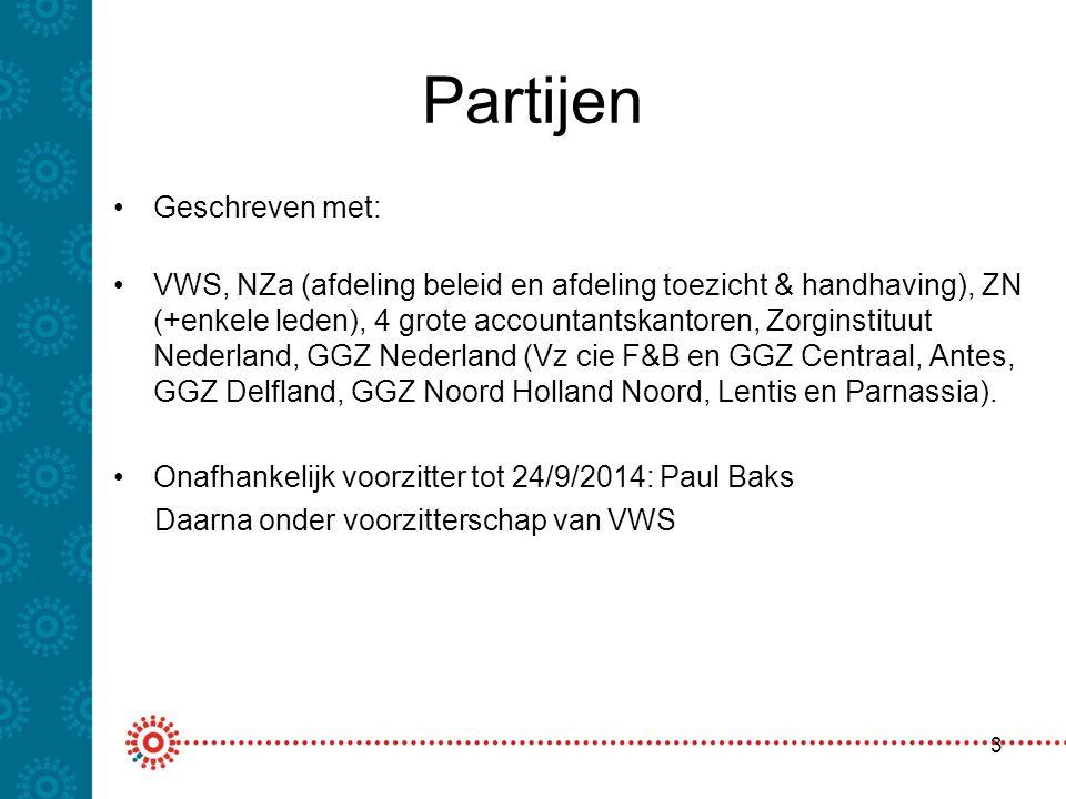 Bestuurlijk lijn GGZ Nederland Focus op de toekomst Normverduidelijking: hoofdbehandelaarschap, verwijzing & verwijsregistratie) per jaarlaag Belang van verduidelijken om de administratieve afspraken van verantwoording en de facturatie te verduidelijken Oude jaren beoordelen op publieke regelgeving van die jaren / splitsing in jaarlagen Oplossingsrichtingen moeten ook voor huidige- en komende transities kunnen gelden Alle partijen meenemen (ook banken) 4