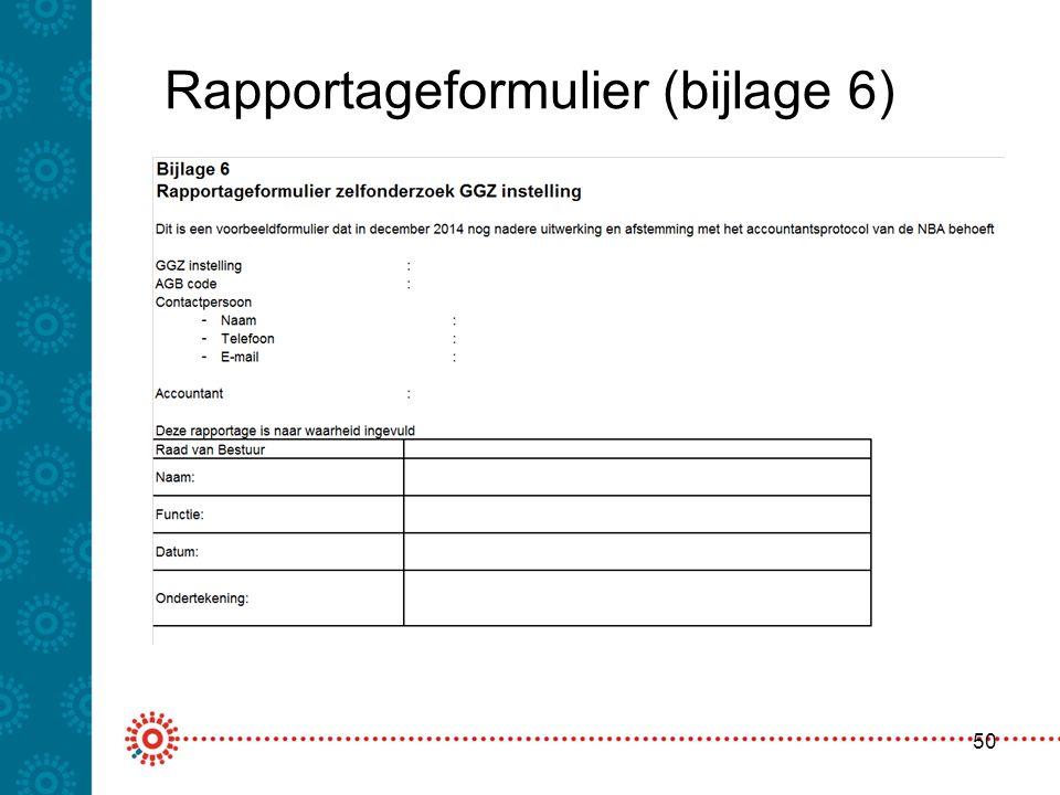 Rapportageformulier (bijlage 6) 50