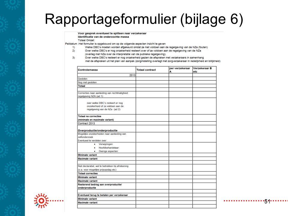 Rapportageformulier (bijlage 6) 51