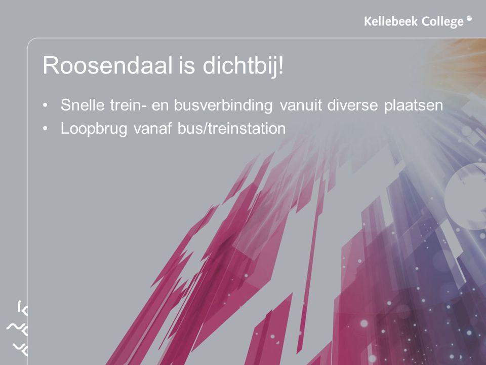 Roosendaal is dichtbij! Snelle trein- en busverbinding vanuit diverse plaatsen Loopbrug vanaf bus/treinstation
