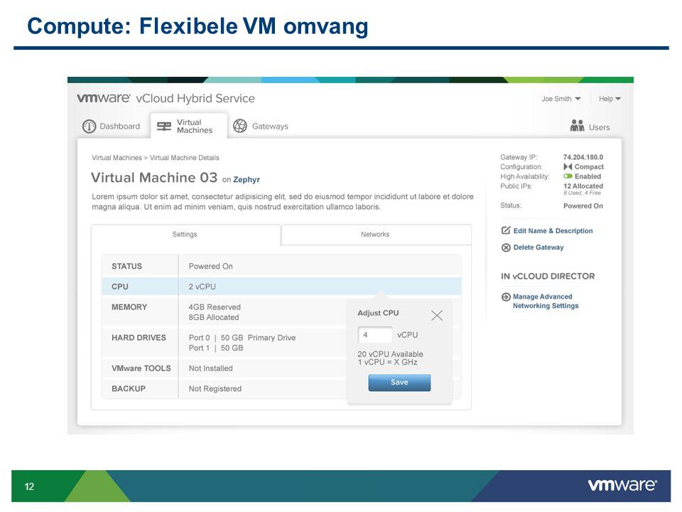 12 Confidential Compute: Flexibele VM omvang