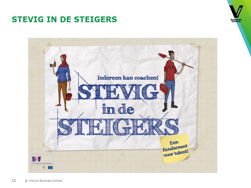 © Vlerick Business School STEVIG IN DE STEIGERS - Voorstelling instrument- 22