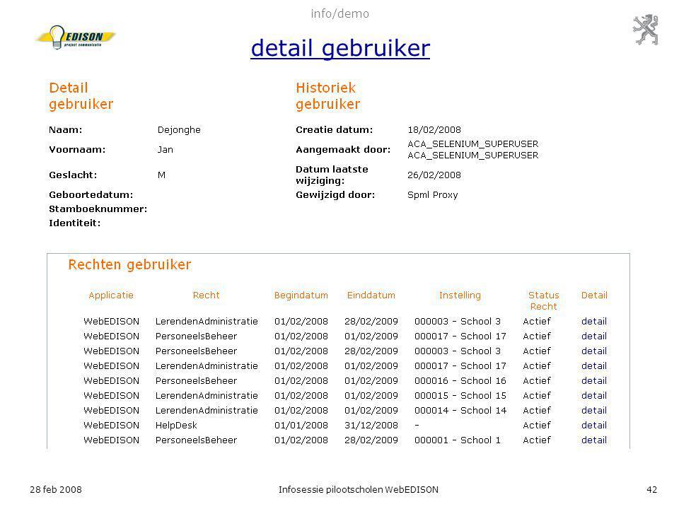 28 feb 2008Infosessie pilootscholen WebEDISON42 info/demo detail gebruiker