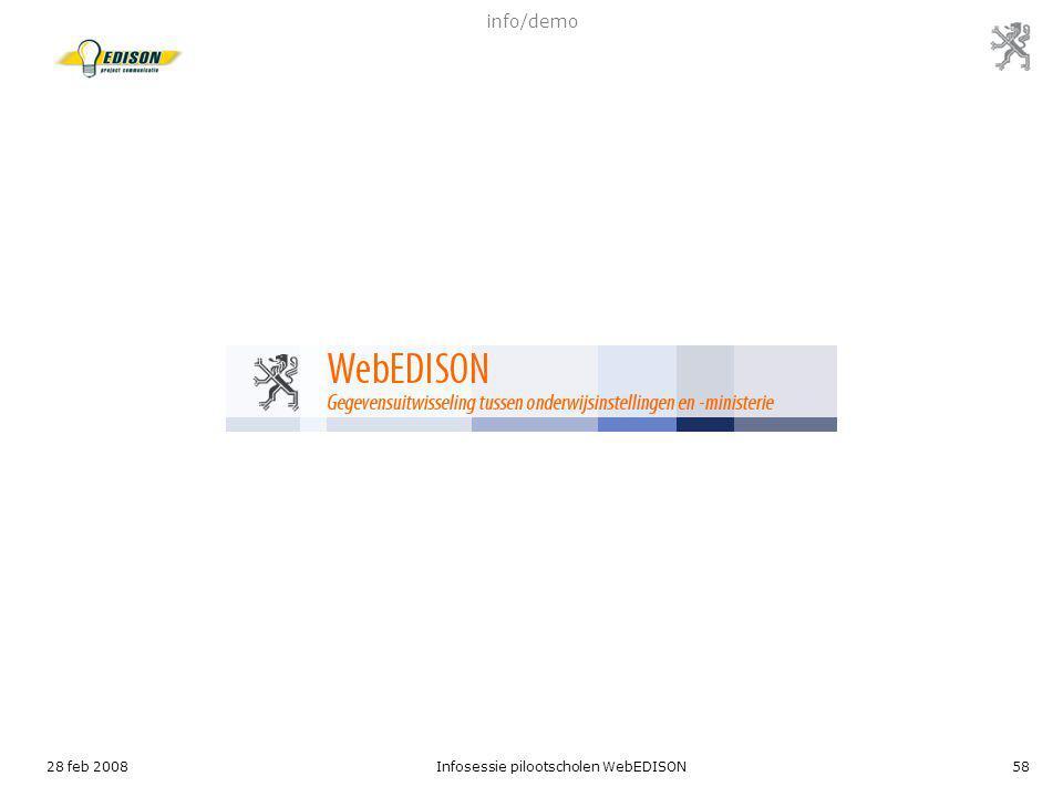 28 feb 2008Infosessie pilootscholen WebEDISON58 info/demo