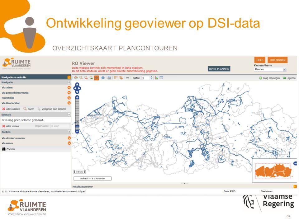 20 Ontwikkeling geoviewer op DSI-data OVERZICHTSKAART PLANCONTOUREN