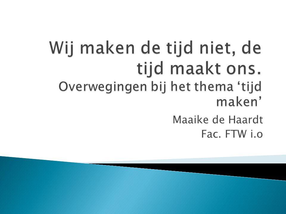 Maaike de Haardt Fac. FTW i.o
