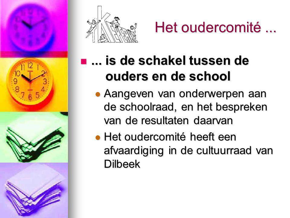 Het oudercomité......ondersteunt de school en de kinderen financieel...