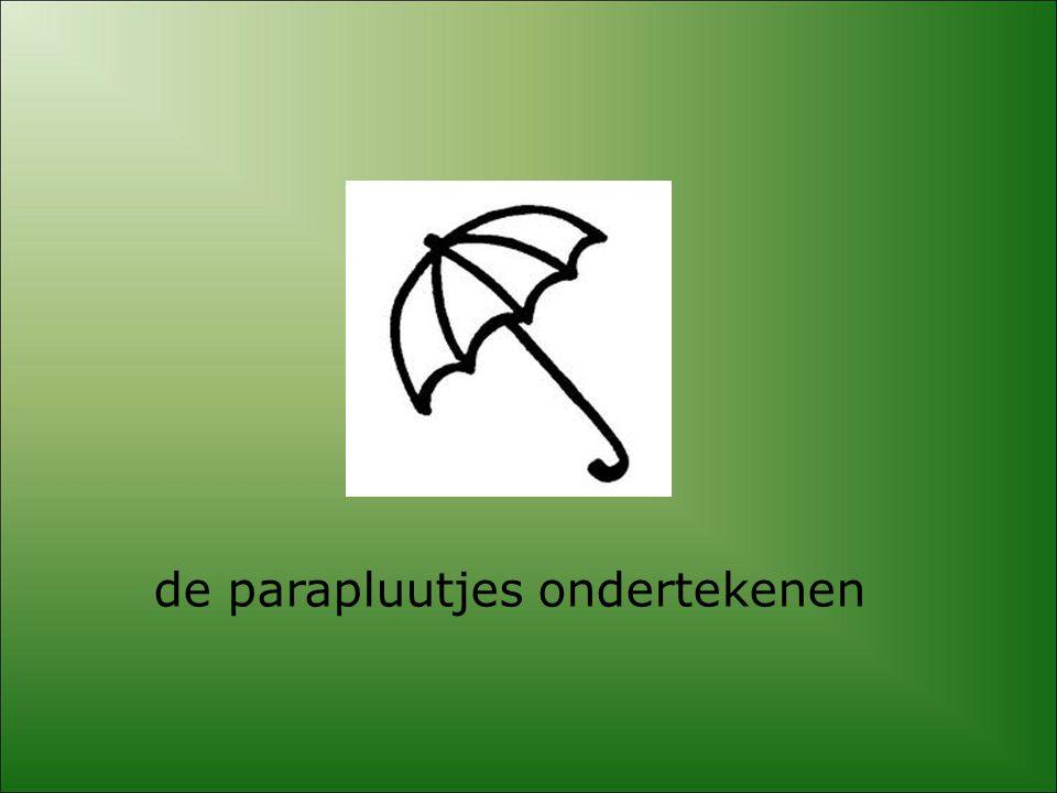 de parapluutjes ondertekenen