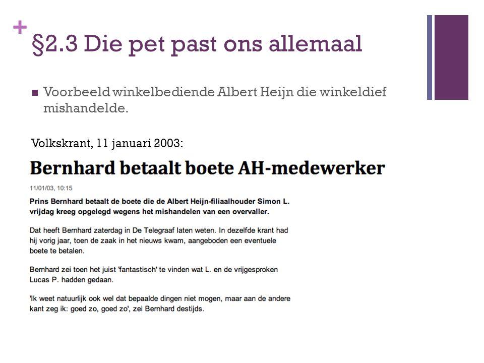 + §2.3 Die pet past ons allemaal RTL Nieuws, februari 2003