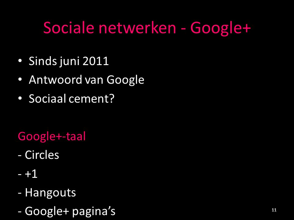 Google + 12