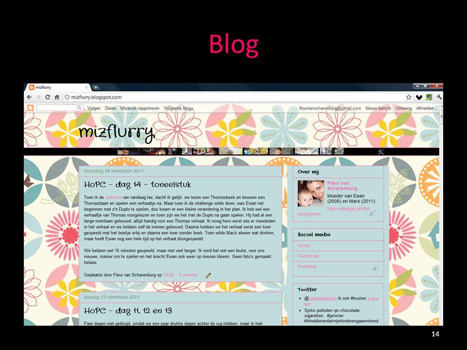 Blogs en microblogs - Twitter Microblog, korte berichten (max.