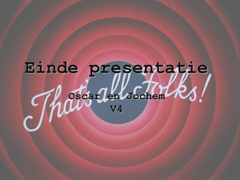 Einde presentatie Oscar en Jochem V4