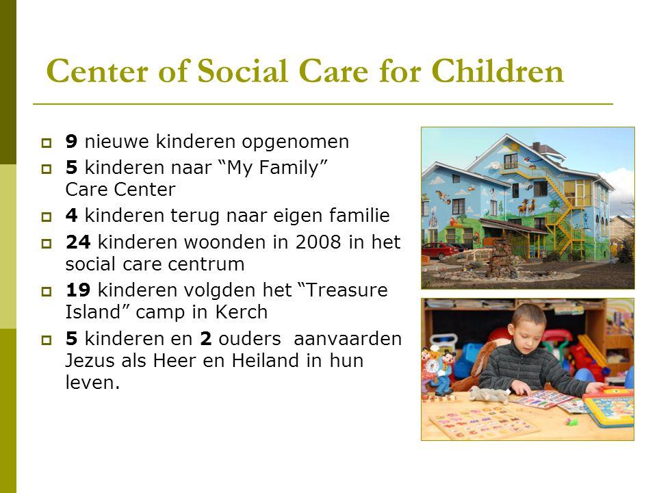 """Center of Social Care for Children  9 nieuwe kinderen opgenomen  5 kinderen naar """"My Family"""" Care Center  4 kinderen terug naar eigen familie  24"""