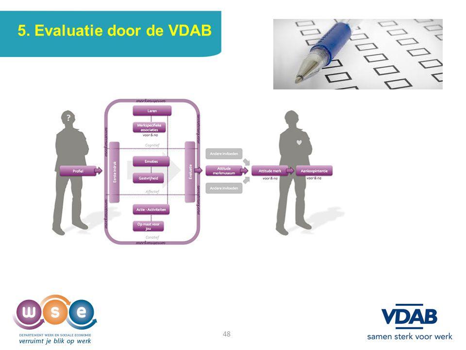 48 5. Evaluatie door de VDAB 48