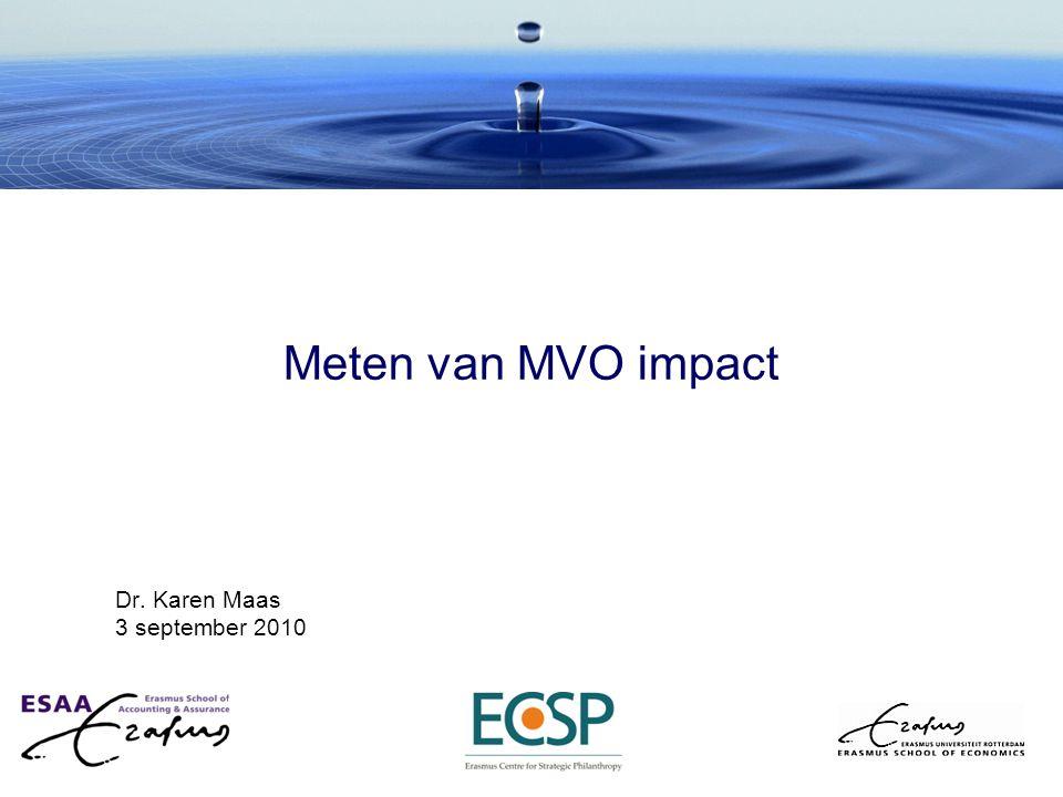 Meten van MVO impact Dr. Karen Maas 3 september 2010
