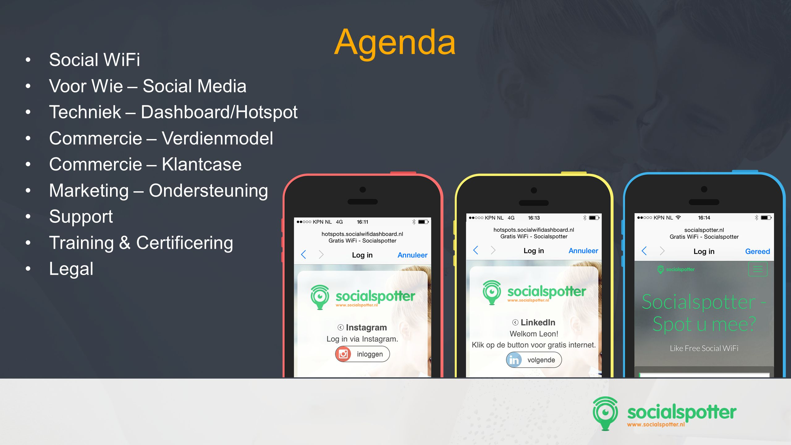 SocMed PRO - Presentation Name Goes Here ff f Social WiFi Connecting People 05 << Jouw eigen gratis Wi-Fi hotspot als sterke moderne marketingtool.