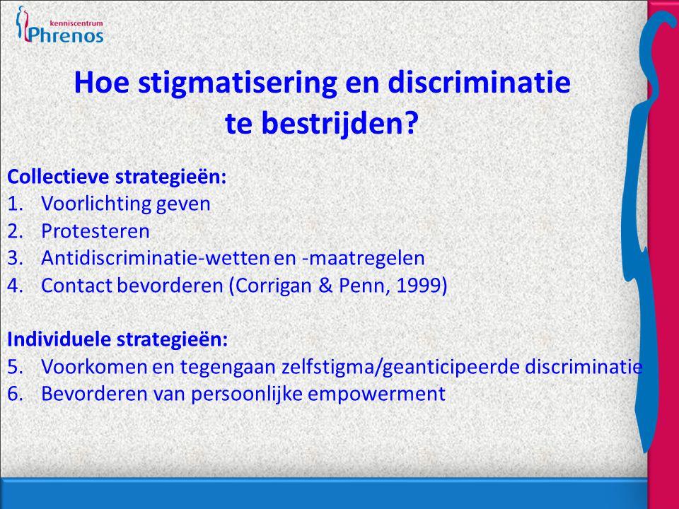 Hoe stigmatisering en discriminatie te bestrijden.