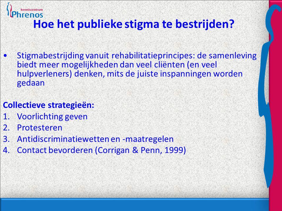 Hoe het publieke stigma te bestrijden.
