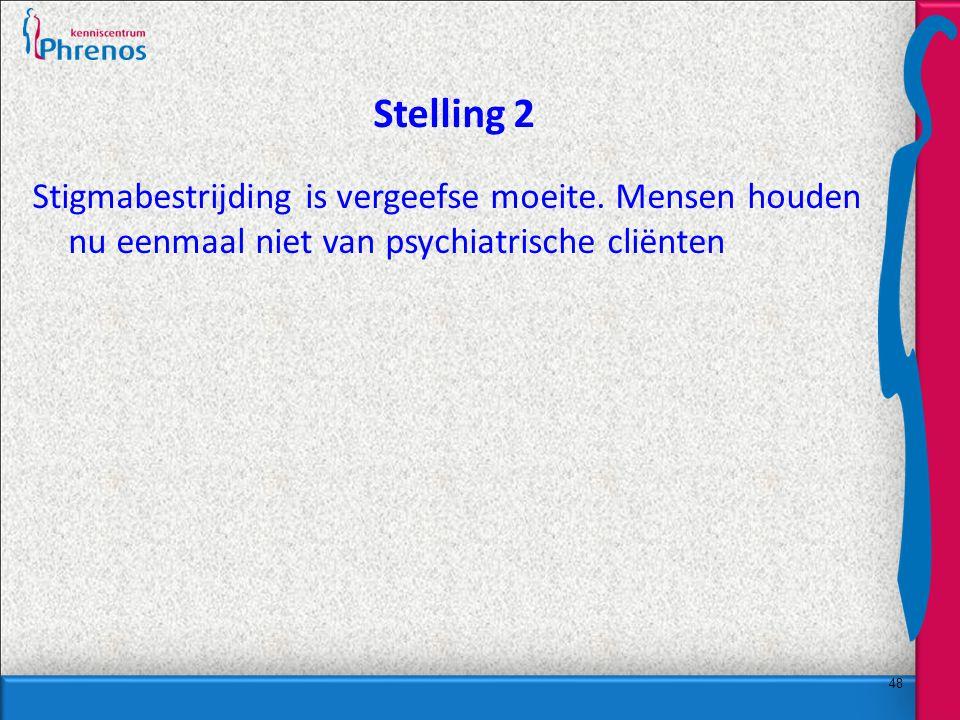 48 Stelling 2 Stigmabestrijding is vergeefse moeite.