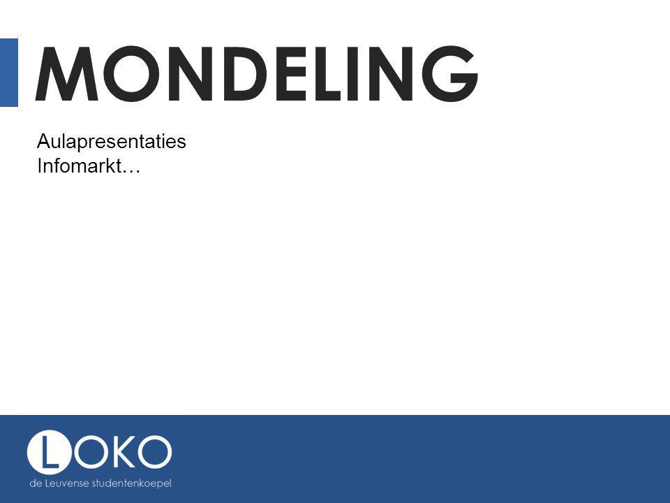 MONDELING Aulapresentaties Infomarkt…