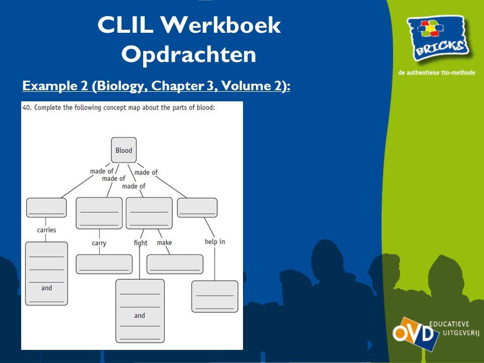 Example 2 (Biology, Chapter 3, Volume 2): CLIL Werkboek Opdrachten