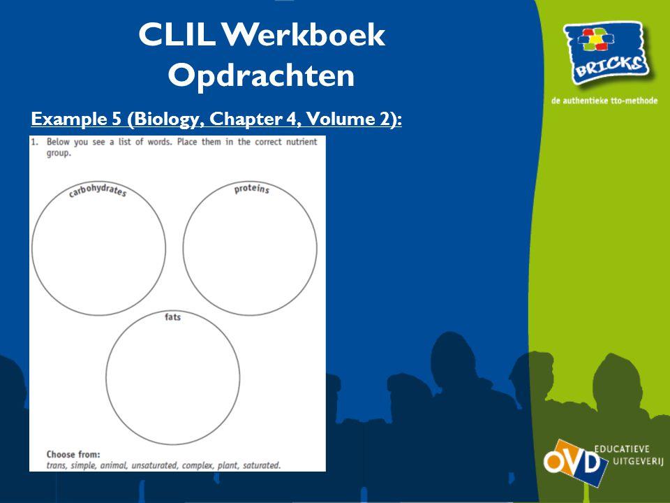 Example 5 (Biology, Chapter 4, Volume 2): CLIL Werkboek Opdrachten
