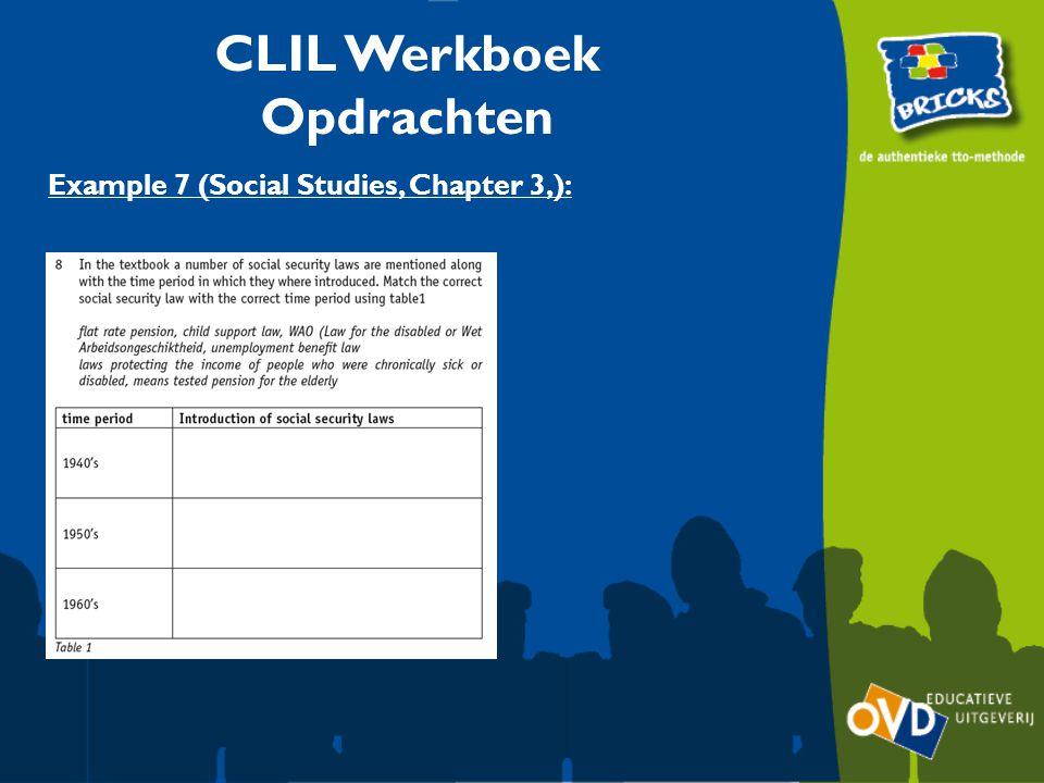CLIL Werkboek Opdrachten Example 7 (Social Studies, Chapter 3,):
