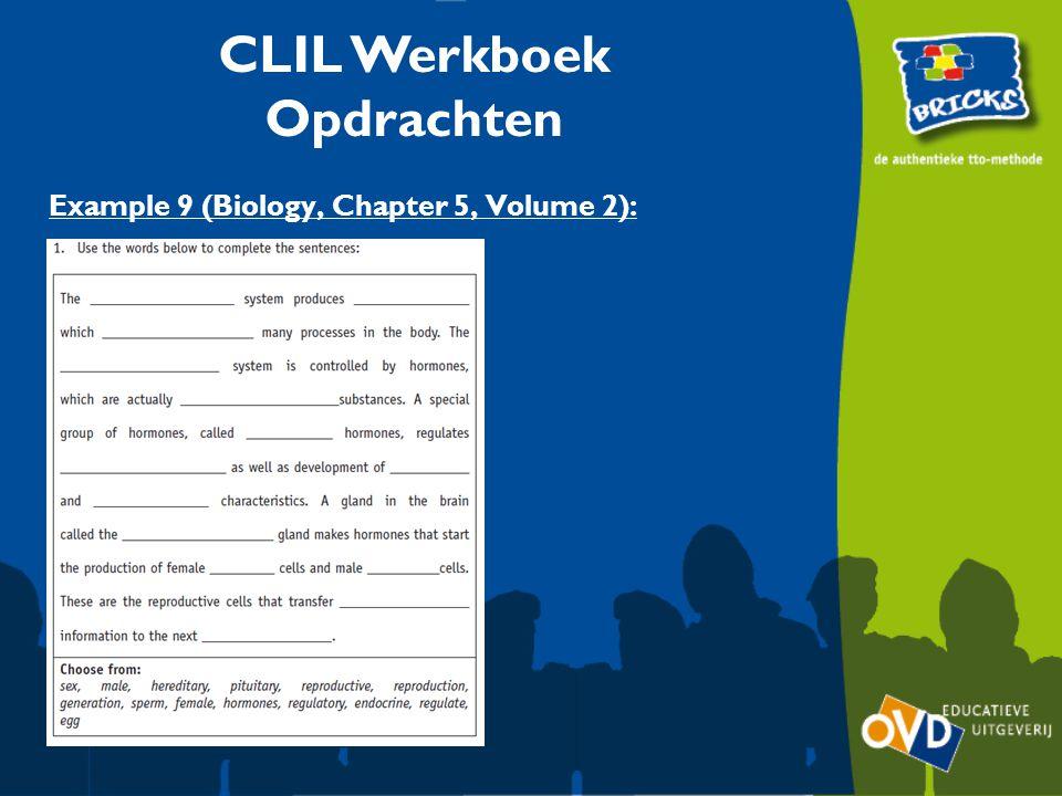 CLIL Werkboek Opdrachten Example 9 (Biology, Chapter 5, Volume 2):
