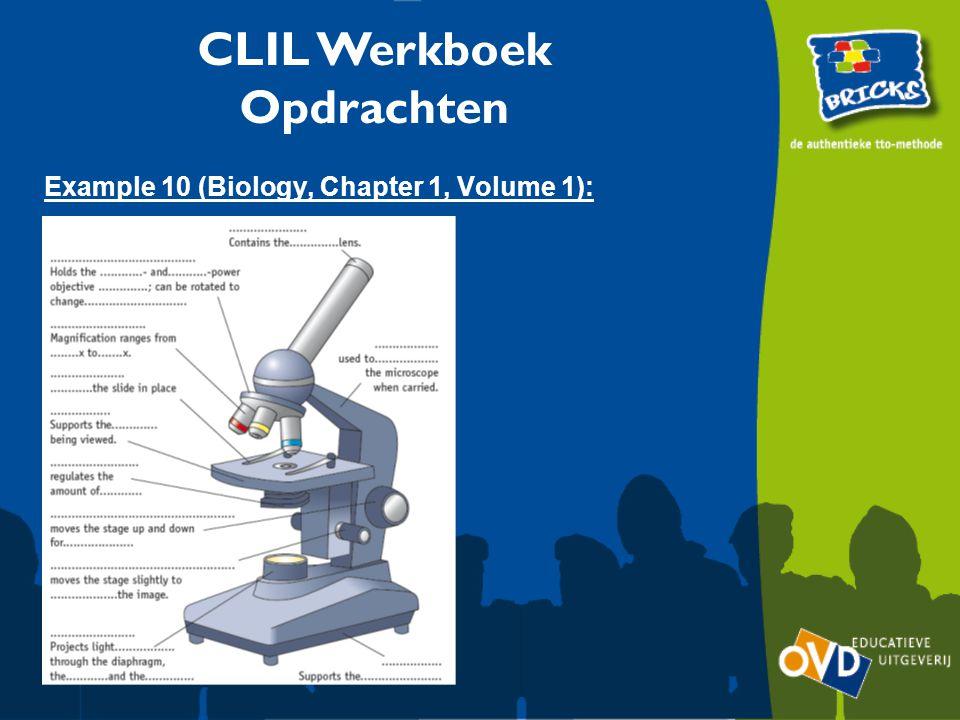 CLIL Werkboek Opdrachten Example 10 (Biology, Chapter 1, Volume 1):